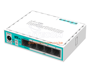 MikroTik RB750r2 hEX lite Ethernet Router