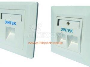 DINTEK 2 Port Angled Wall Plate with Shutter 1303-12010 Kenya
