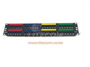 DINTEK PowerMAX 2U 48P Cat.6 UTP patch panel - 1402-04012 Kenya